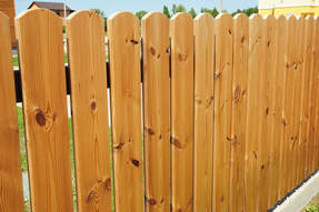 Picture of a new Cedar Fence Installed. This photo was taken in Conroe, TX.